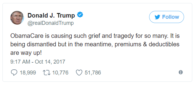 77 - trump on twitter obamacare